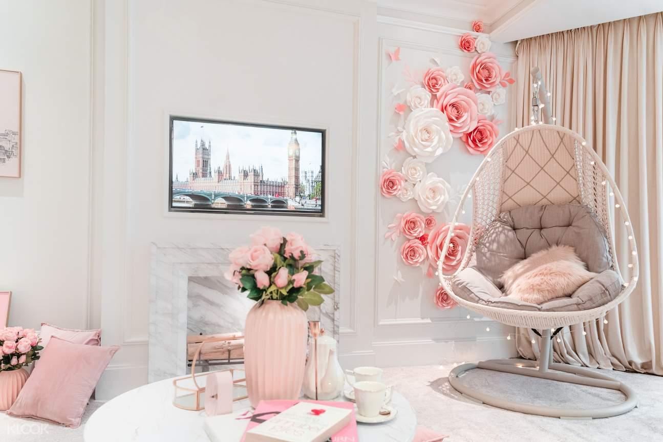 漫遊倫敦主題房 -「粉紅下午茶室」
