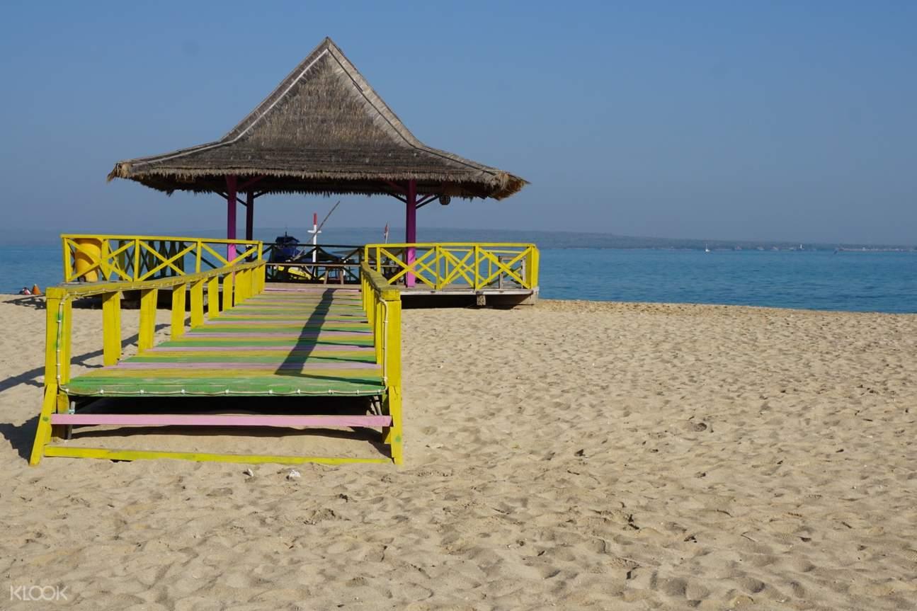 nipa hut on the beach
