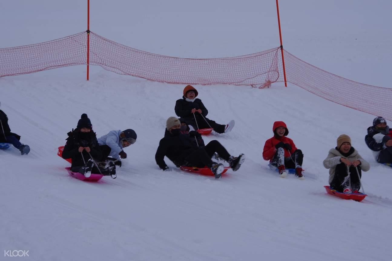 snow activity in mt. tengu