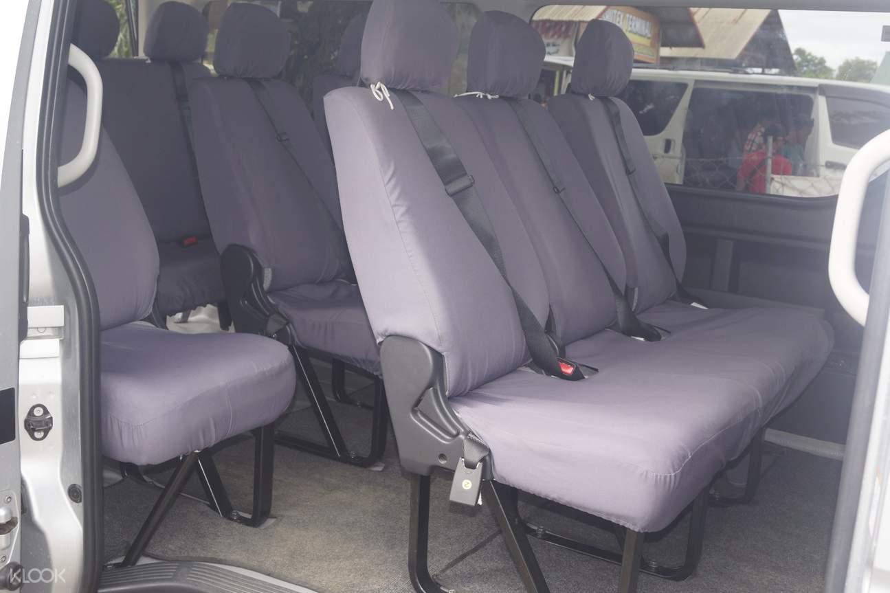 interiors of a van