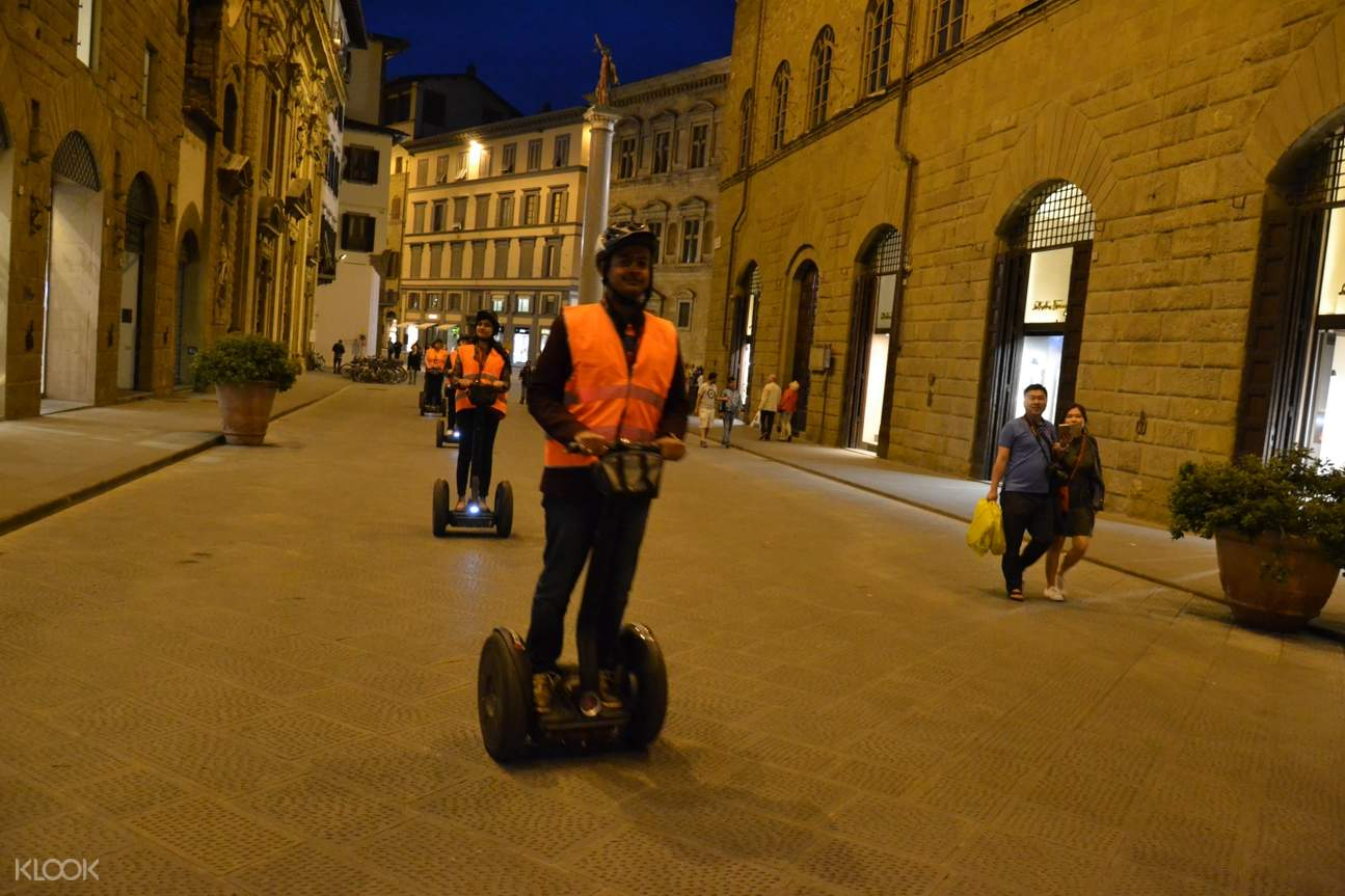 participants on a segway