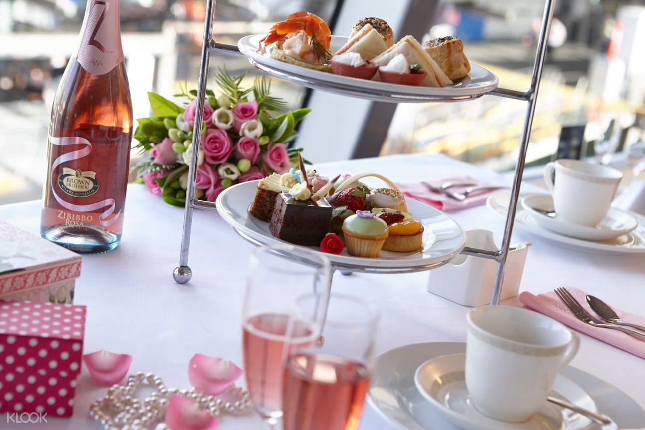 雪梨港遊船下午茶精緻餐點