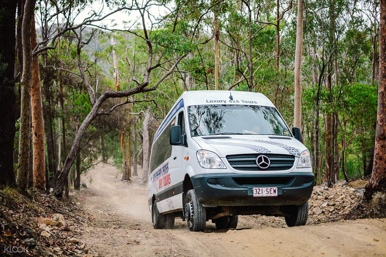 a van on the offroad track