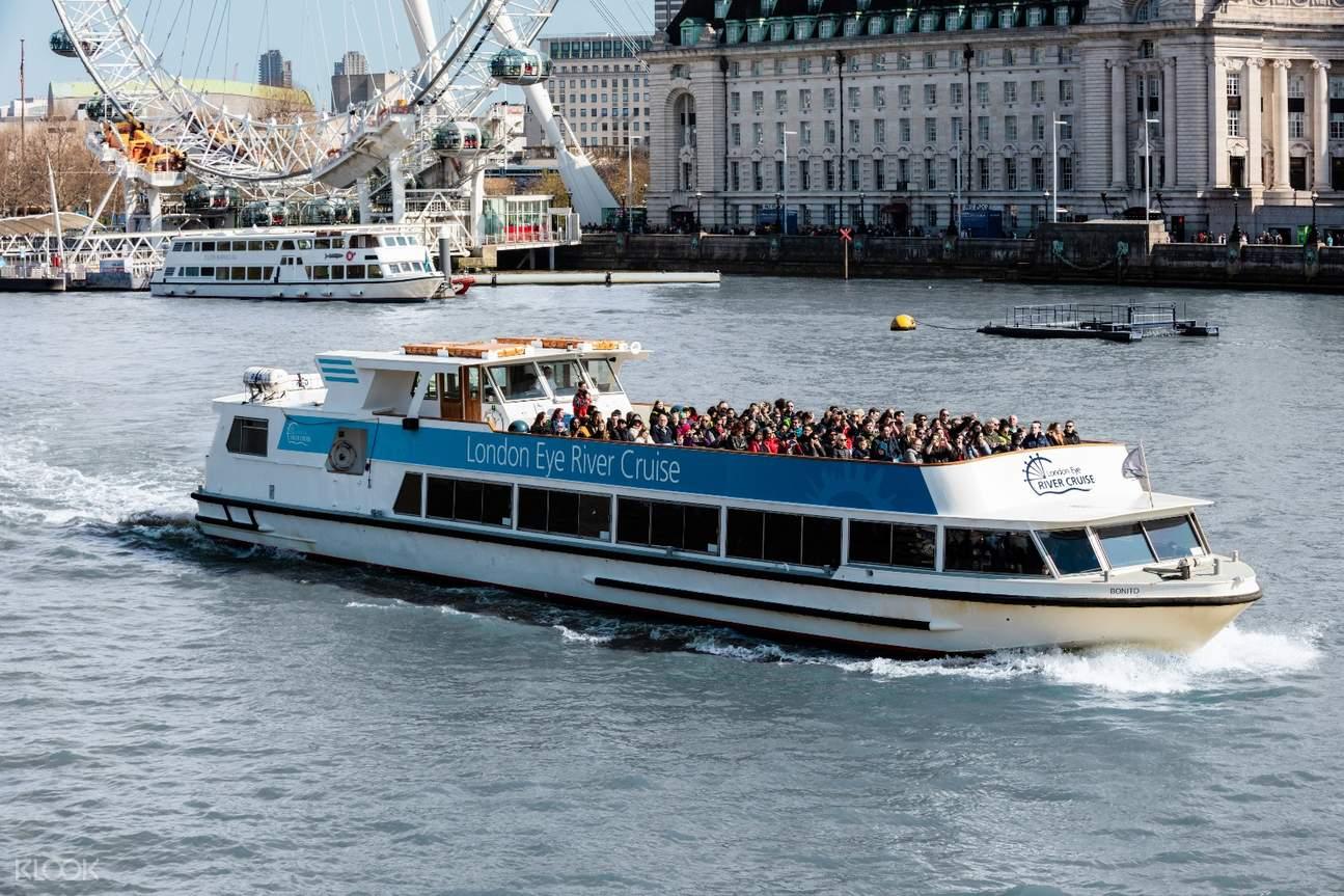 倫敦眼摩天輪 泰晤士河遊船