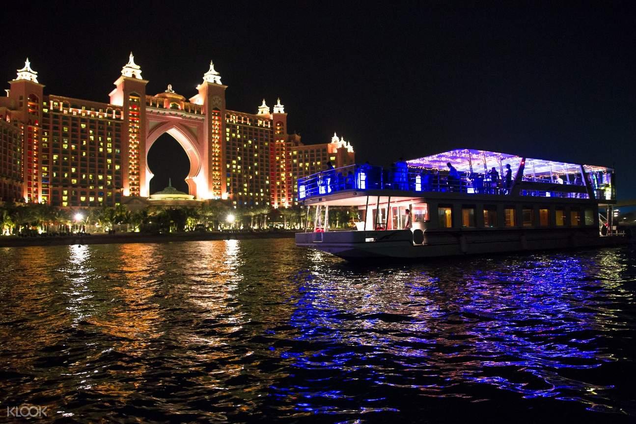 迪拜 朱美拉棕榈岛豪华游轮(含自助晚餐)