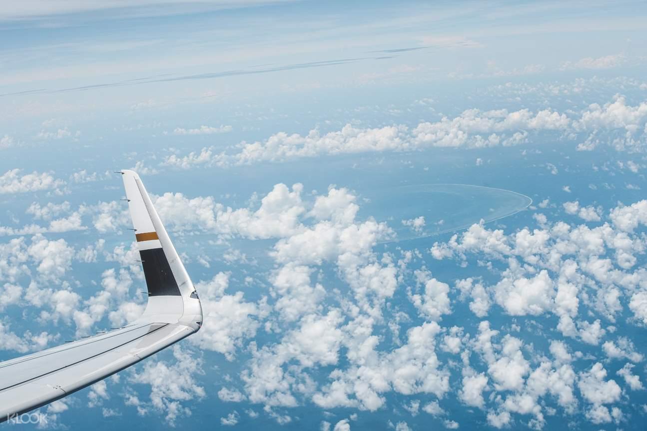 10月3日11點起飛,保證飛滿3小時飽覽高空美景