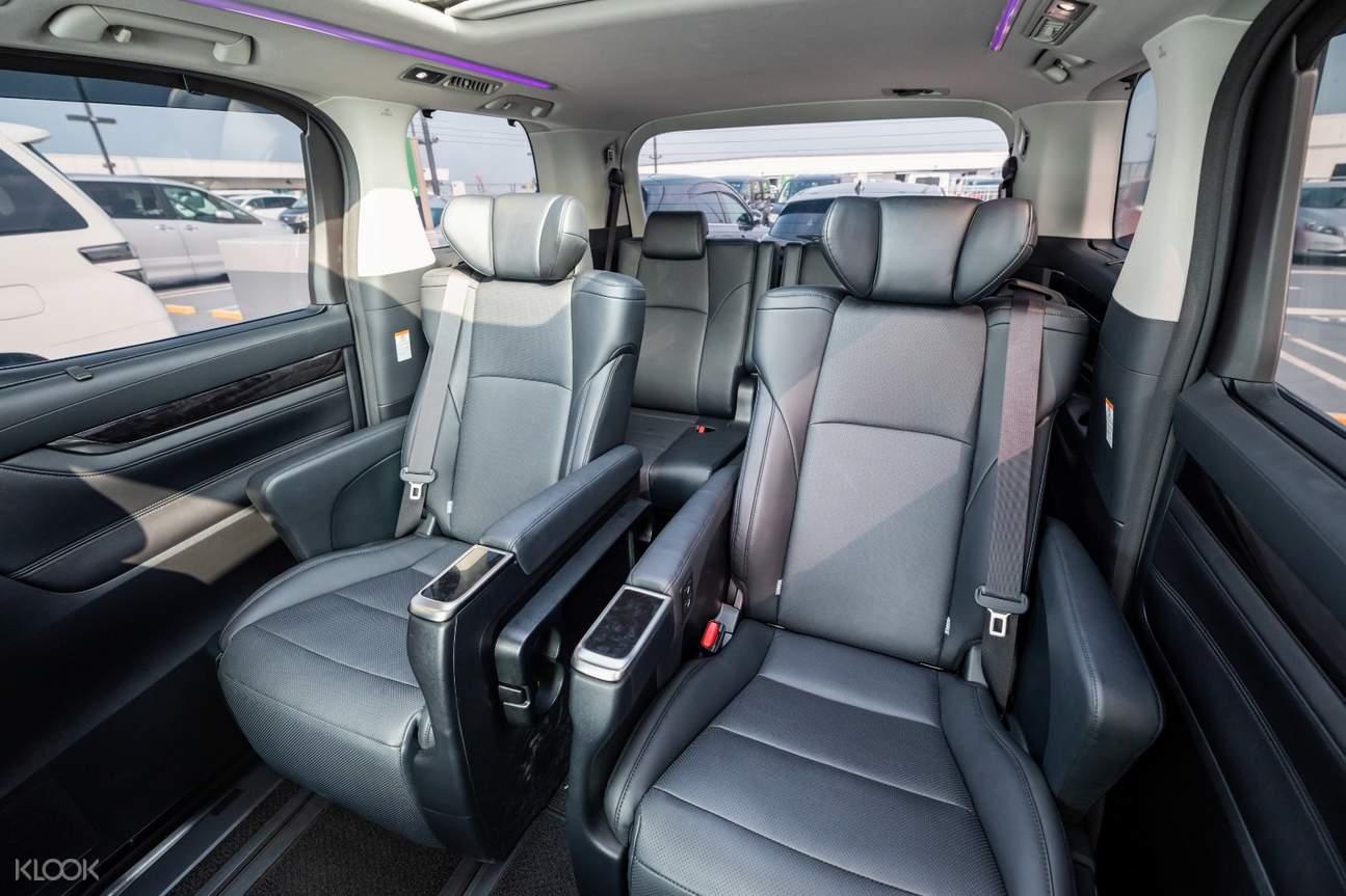 spacious car private airport transfers kix