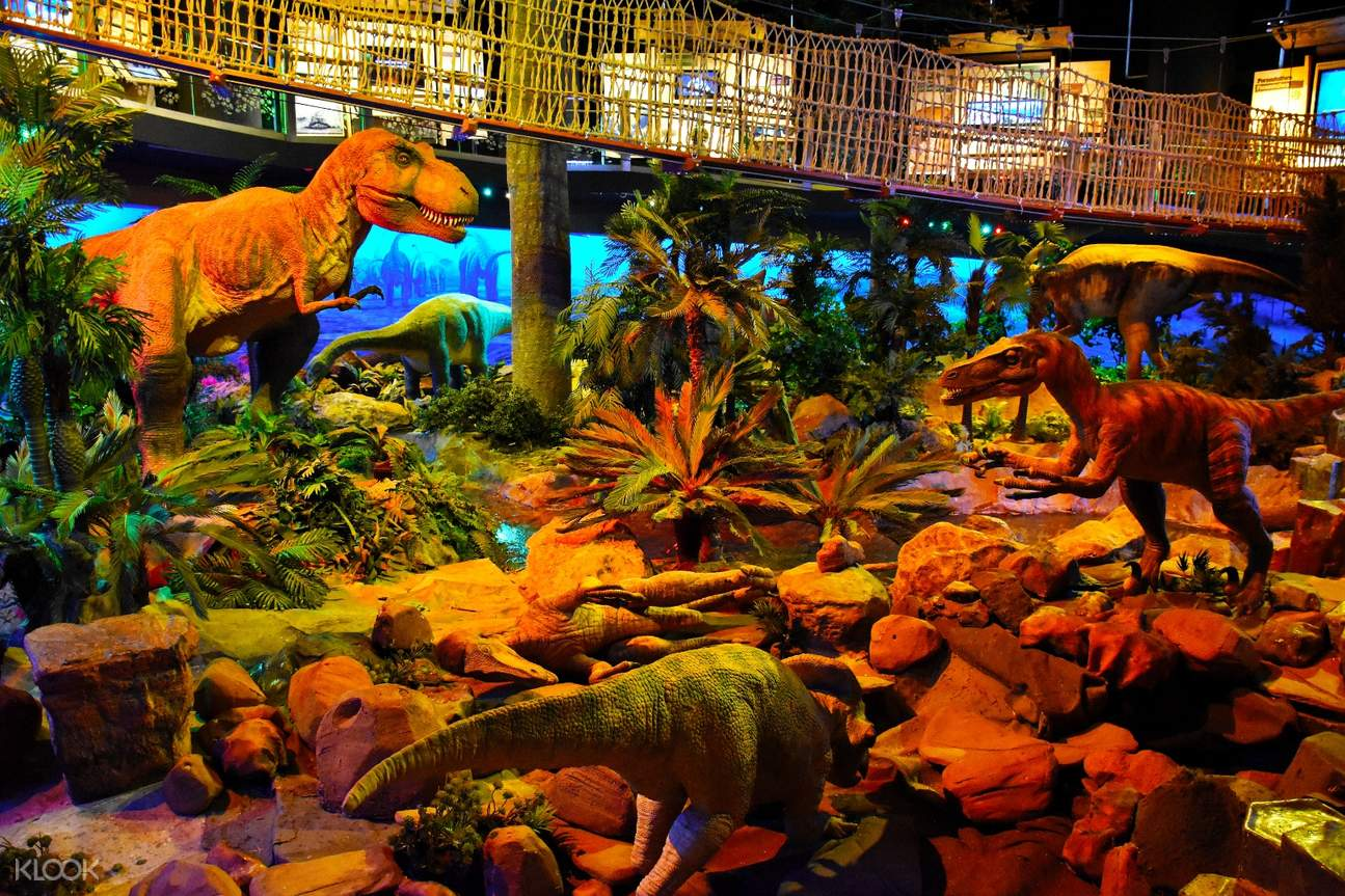 dinosaur exhibit in petrosains the discovery centre