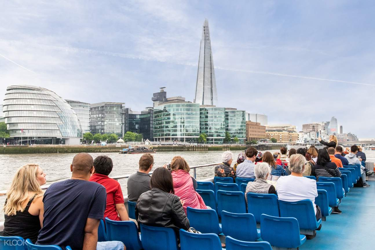 people onboard river thames cruise