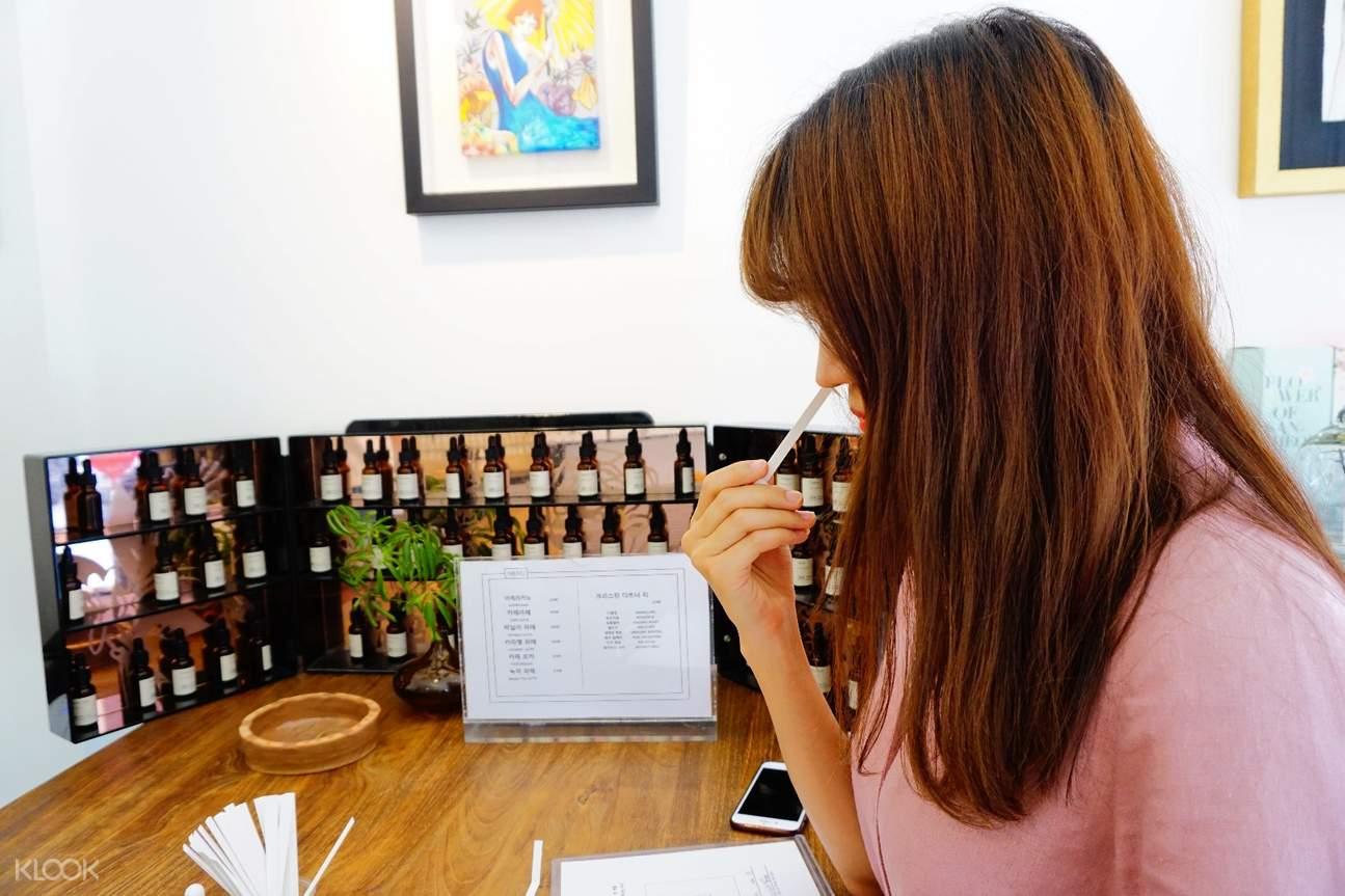 韓國香水製作,韓國香水DIY,首爾香水製作,韓國GN香水製作