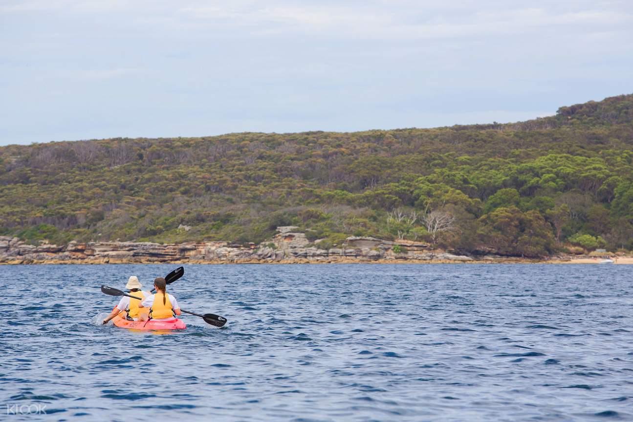kayaking in manly