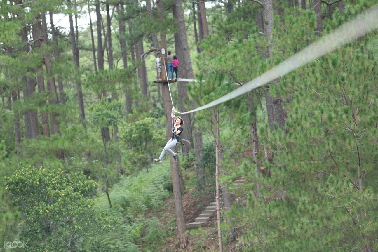 大叻高空绳索课程探险体验