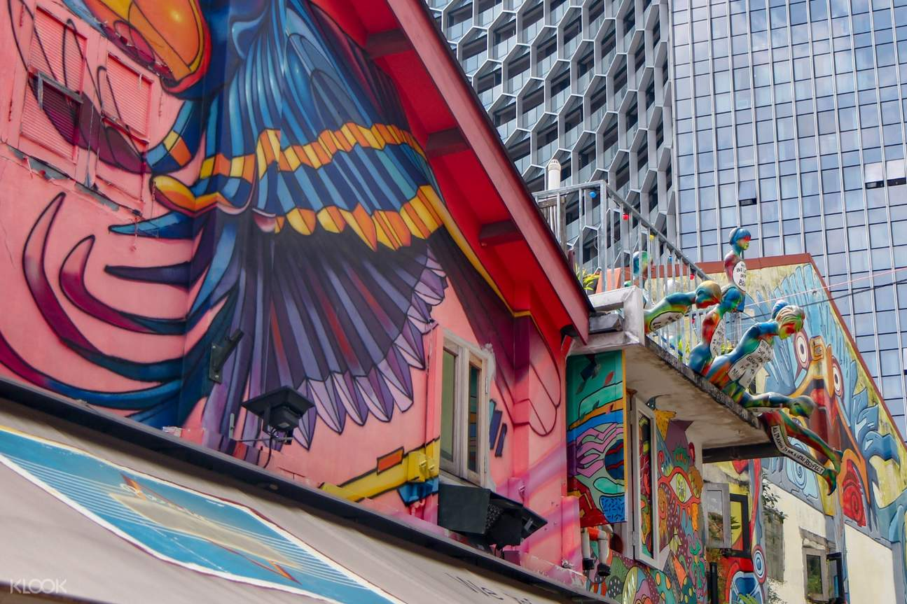 Walk along picturesque streets and get your cameras ready to capture the instagrammable street art