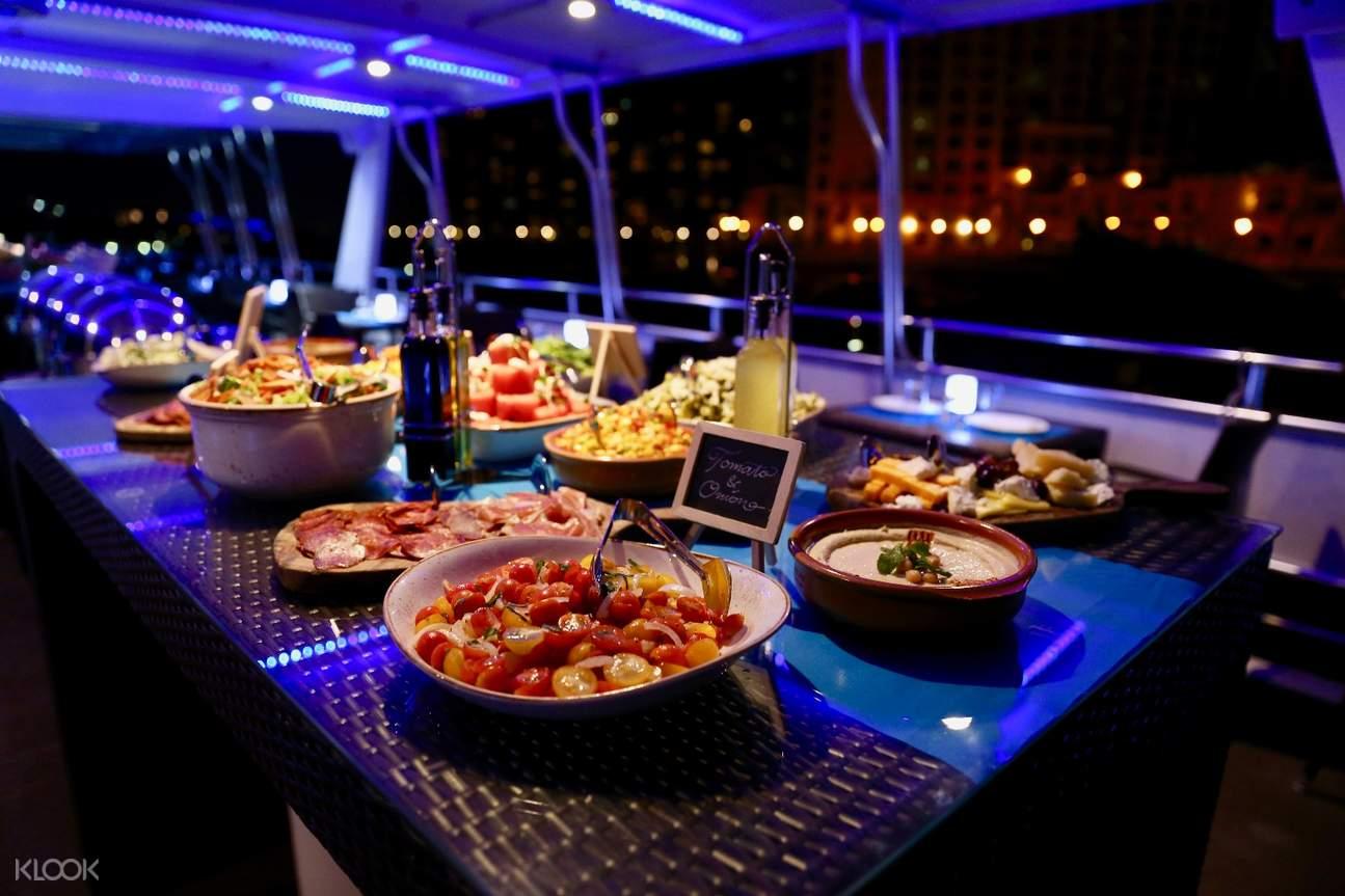 迪拜朱美拉棕櫚島豪華遊輪(含自助晚餐)