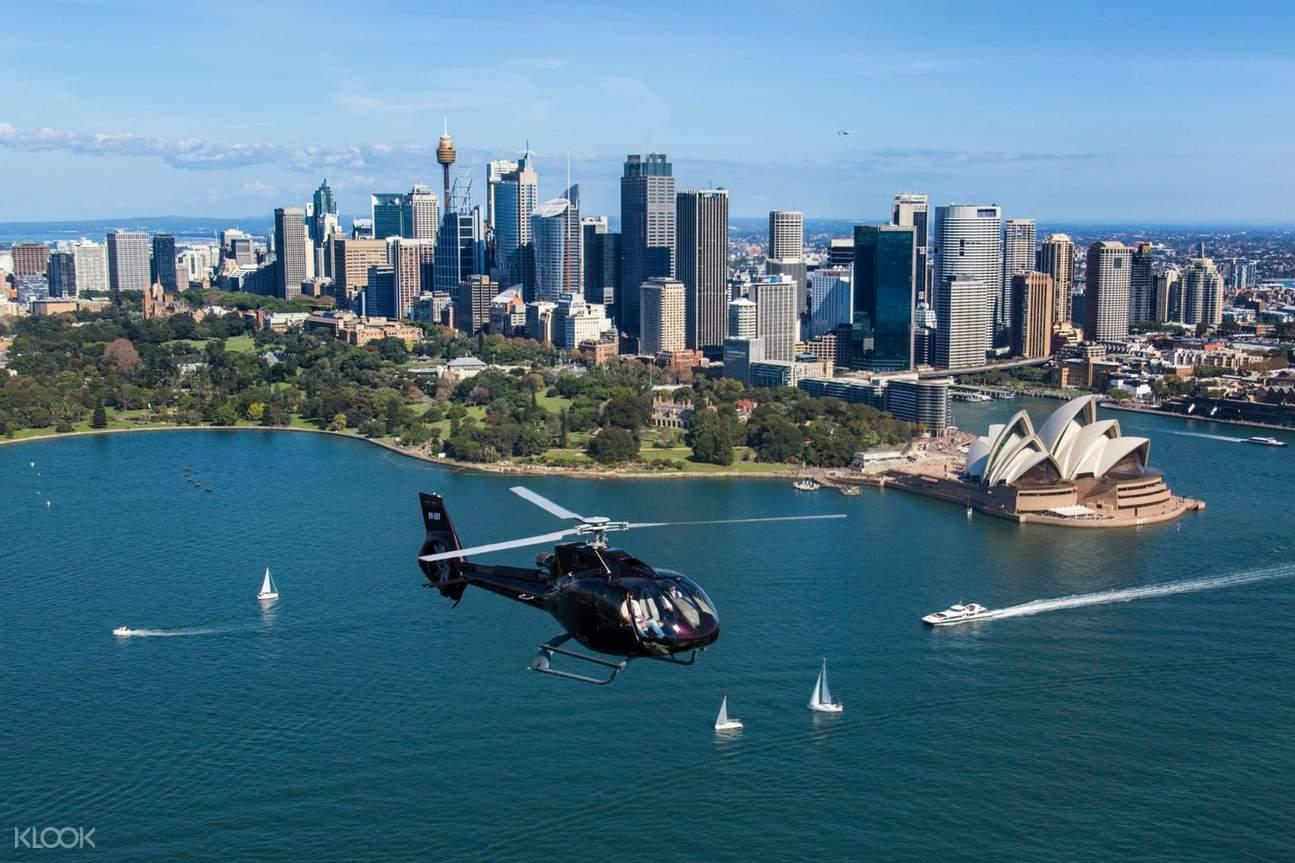悉尼港直升机观光导览