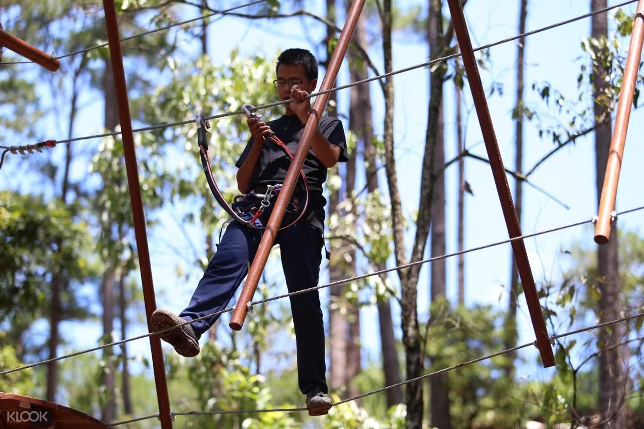 大叻高空繩索課程探險體驗