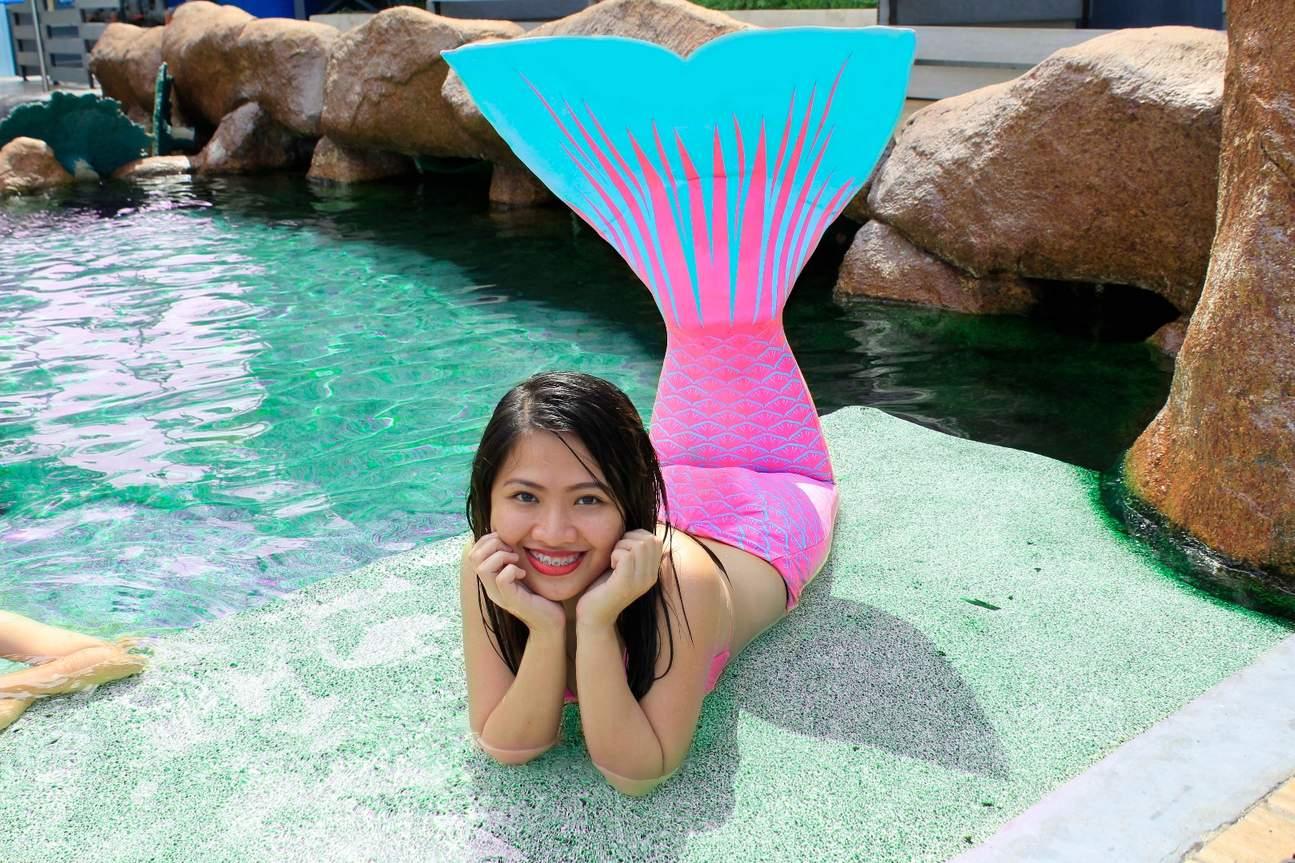 马尼拉海洋公园互动体验 美人鱼变装