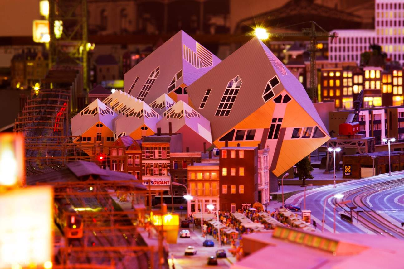 the cube houses miniature version