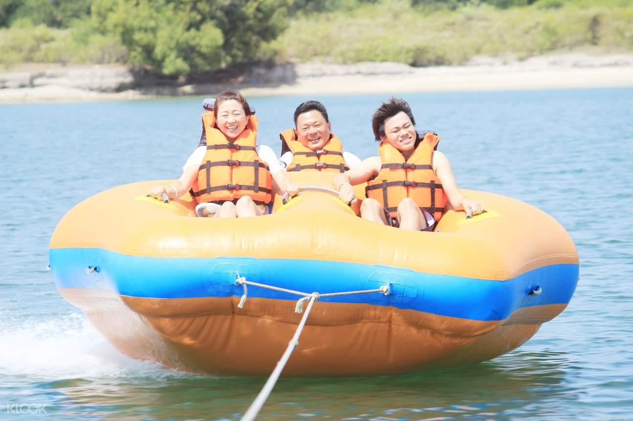 donut boat water sports tanjung benoa beach bali