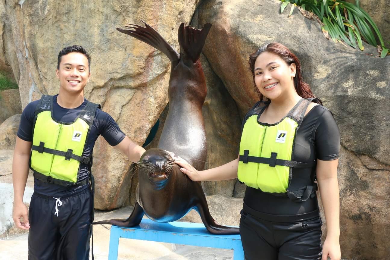 馬尼拉海洋公園互動體驗 海獅訓練員