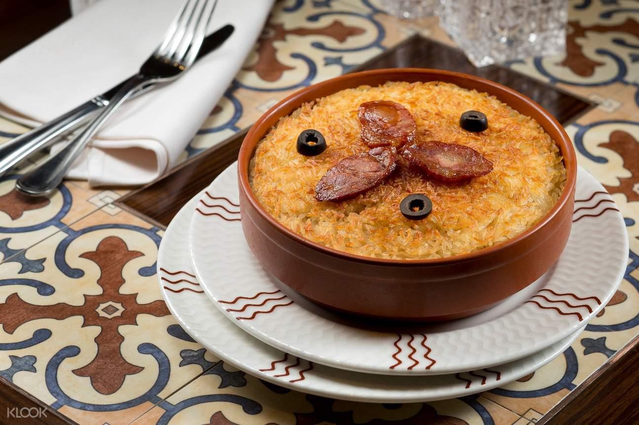 baked duck rice dragon portuguese cuisine broadway macau