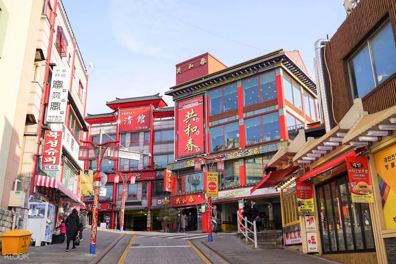china town buildings