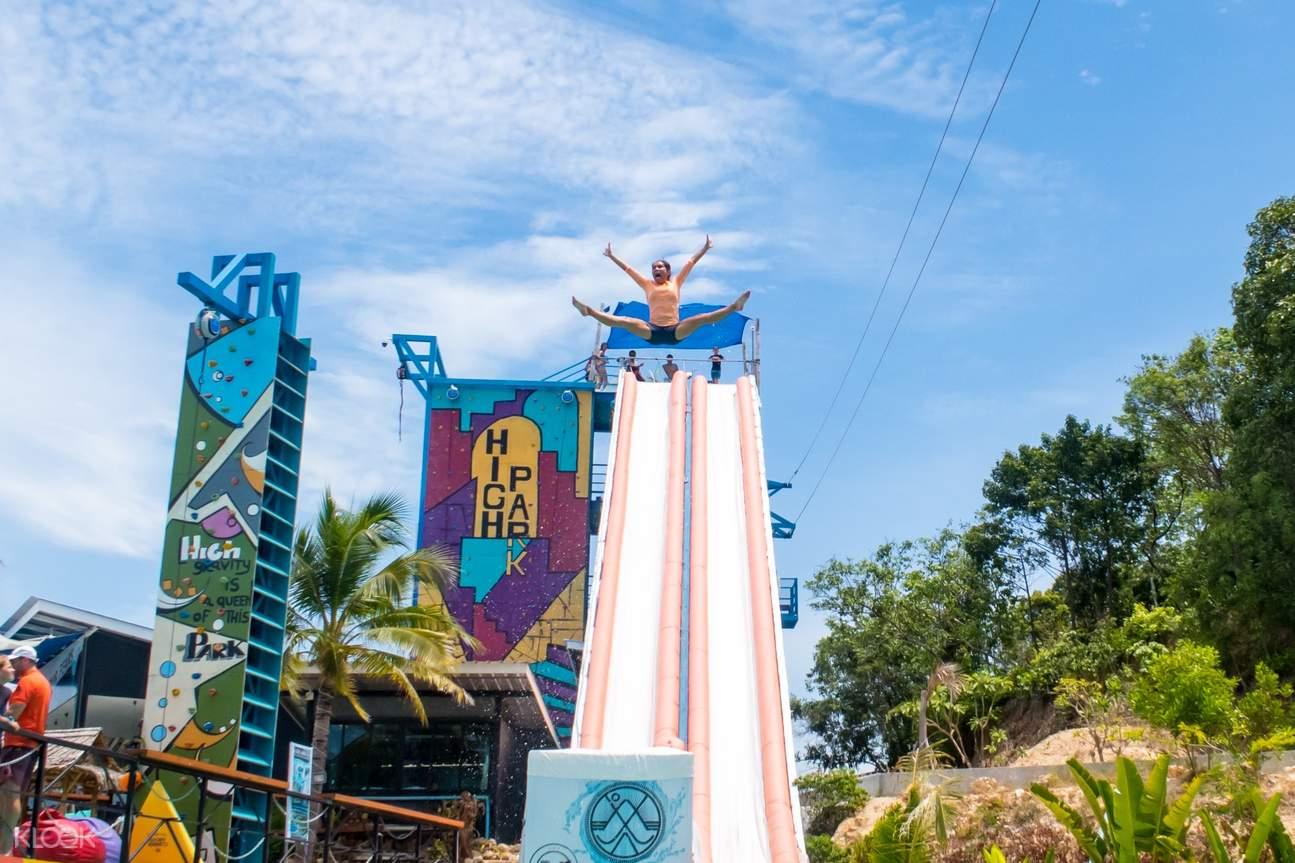 water slides in high park samui koh samui