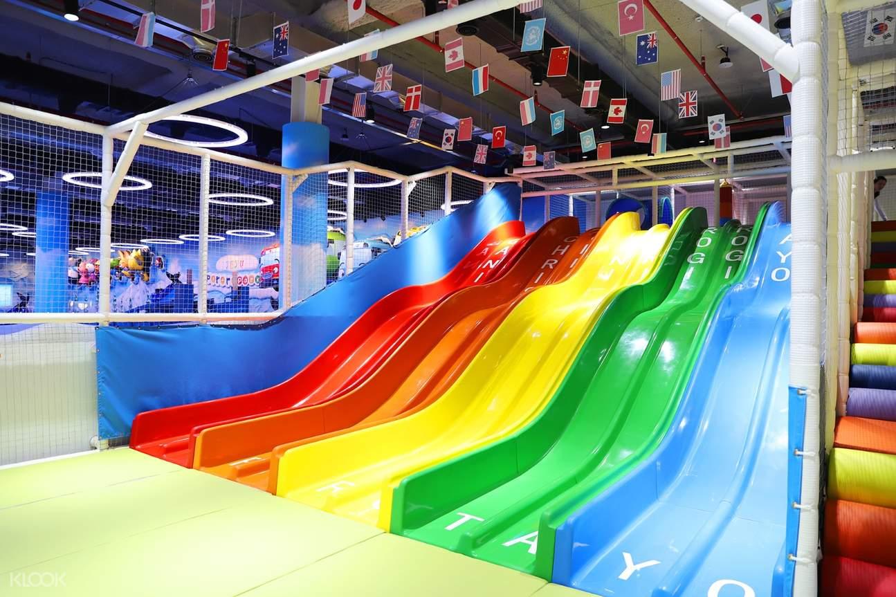 rainbow slides at Pororo