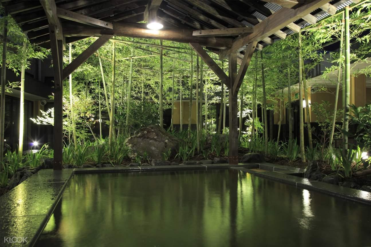 outside hot spring