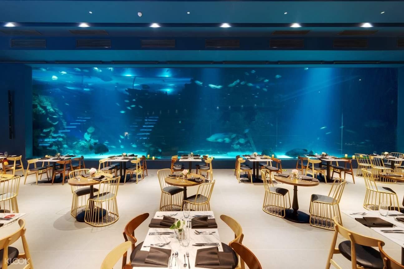 panoramic view of restaurant at Cebu Ocean Park