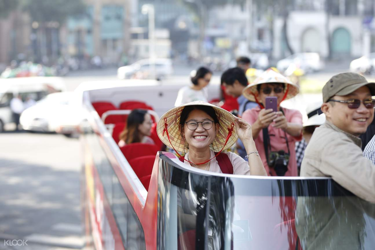 Explore the sights of Ho Chi Minh City at your own pace on a tour bus