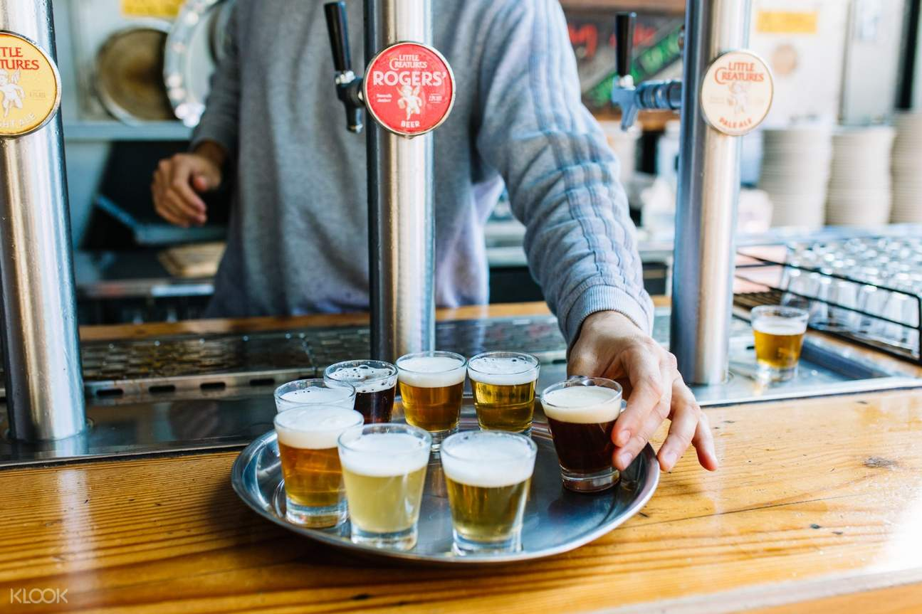 beer tasting session in little creatures brewery fremantle