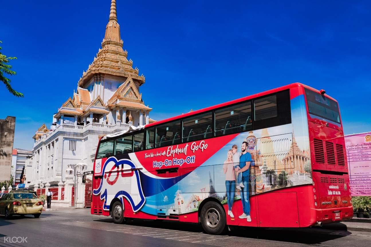 red bus in bangkok