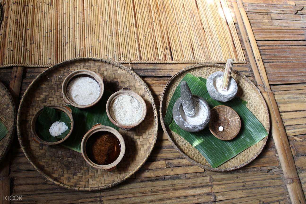 Bamboo stick cooking and local cookies cooking activity