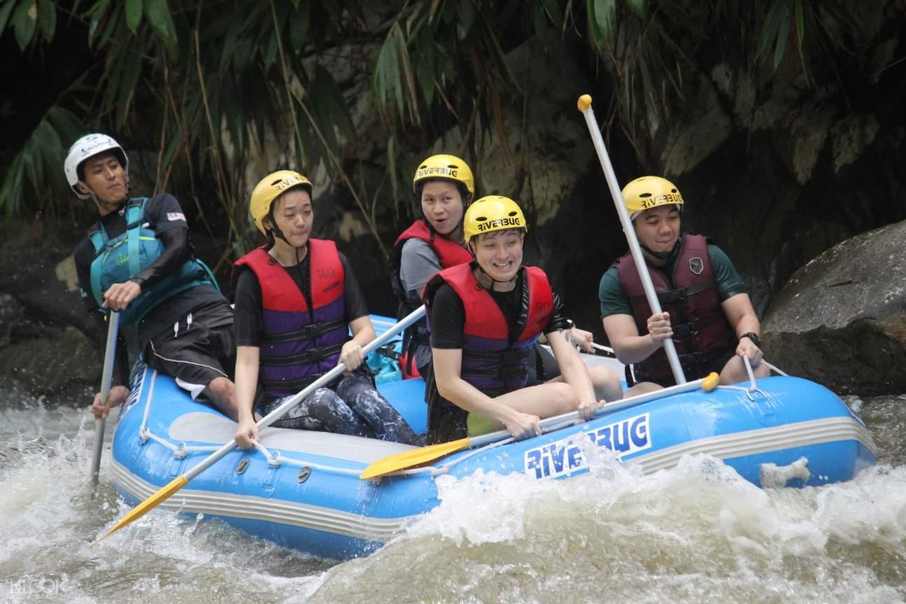 tourists enjoying a rafting activity