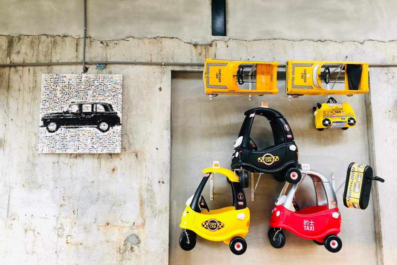 taxi artwork at Suao Taxi Museum
