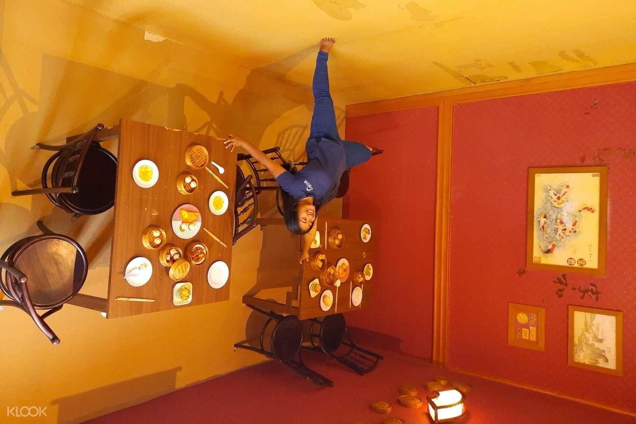 kitchen inside upside down world in bali
