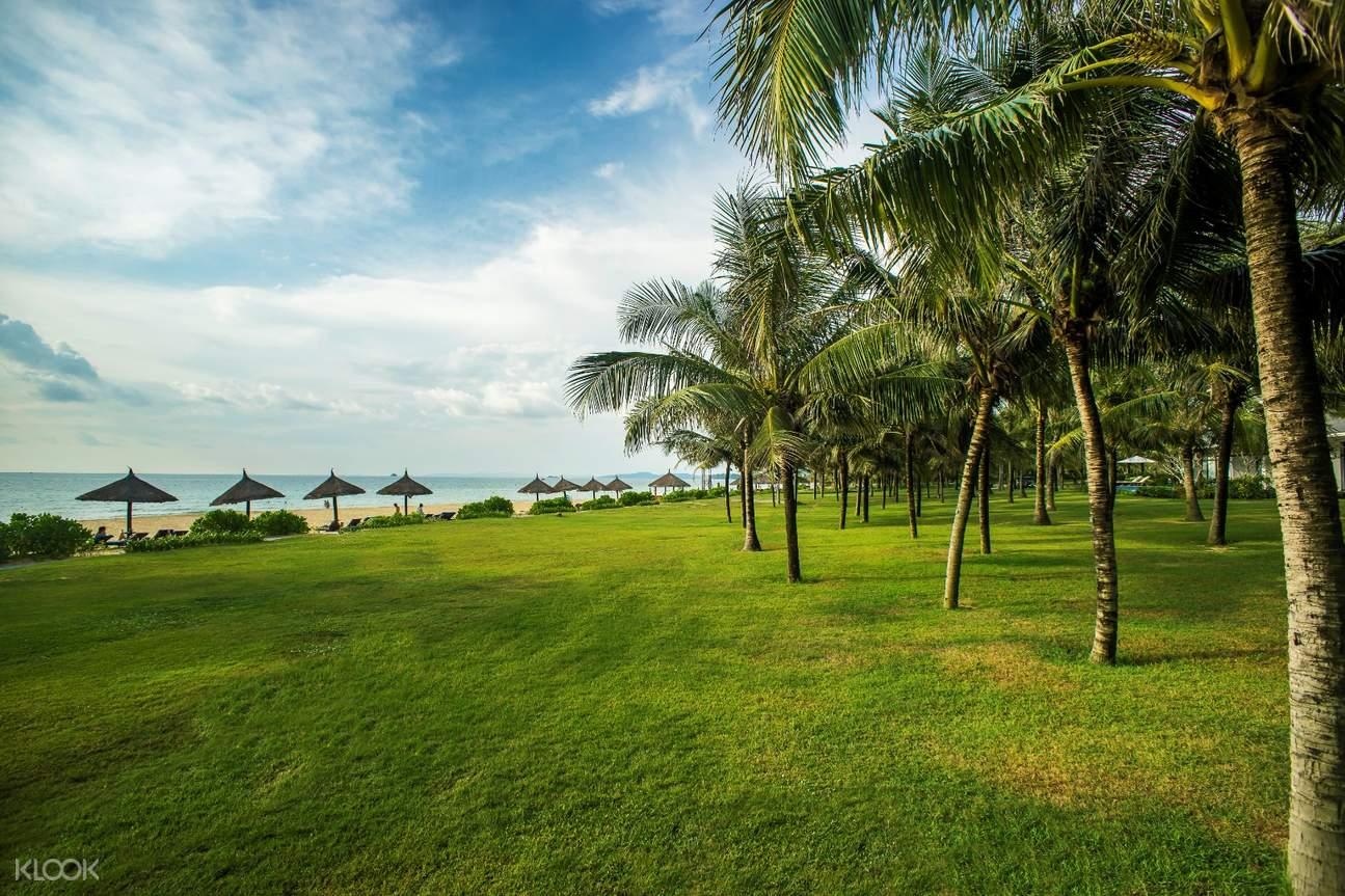 private beach in Radisson Blu Resort
