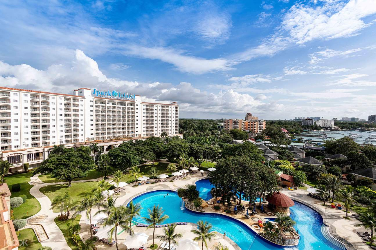 a panoramic view of Jpark Island Resort and Waterpark