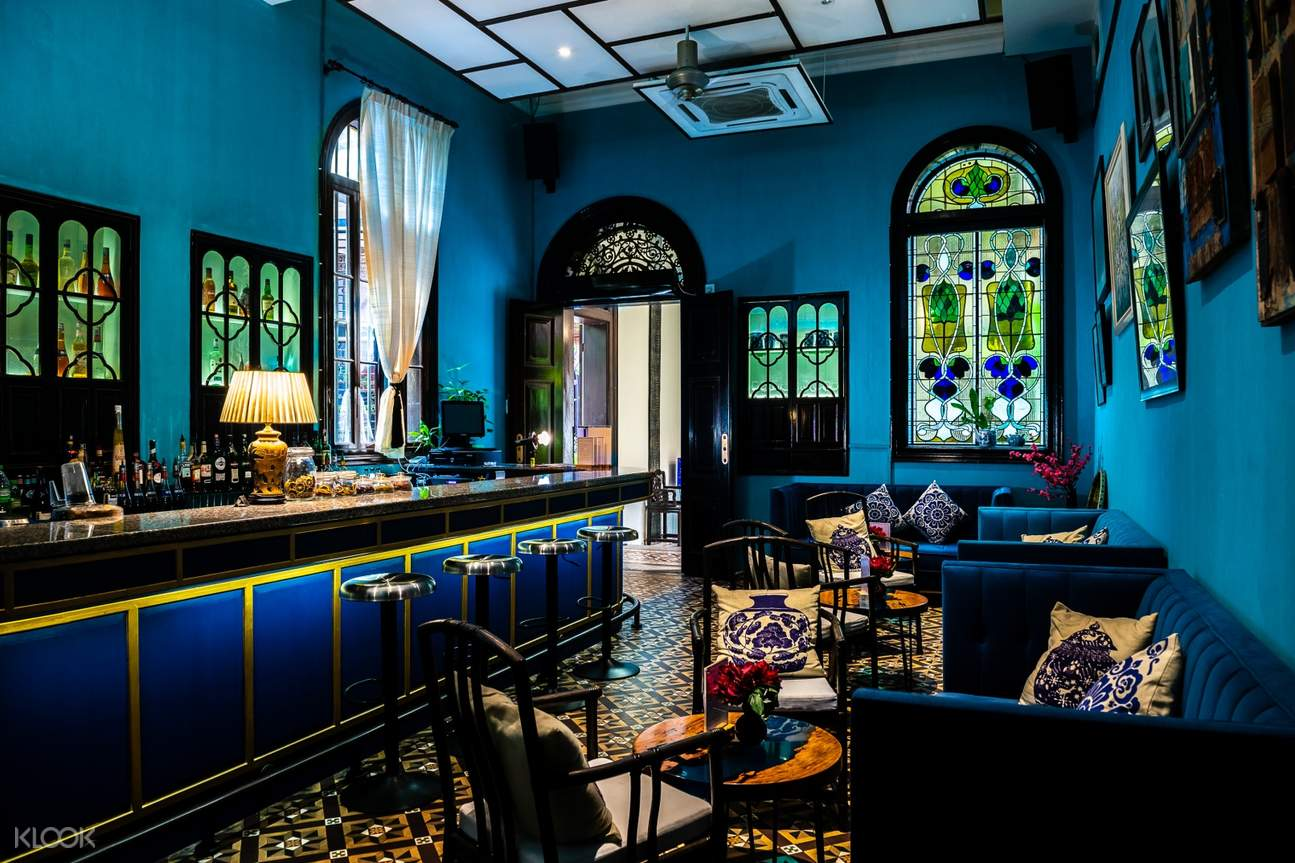 bar at the blue mansion