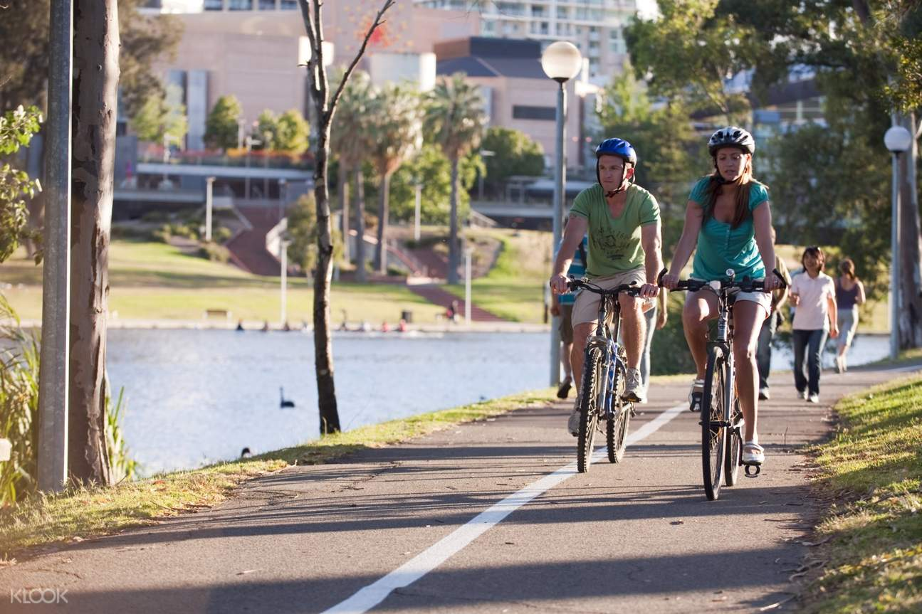 riding a bike in adelaide city