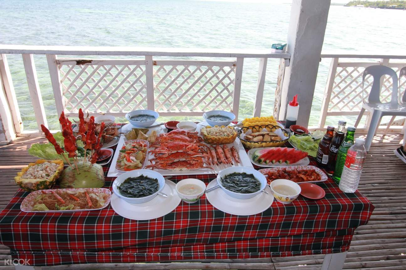 dining table filled with various food