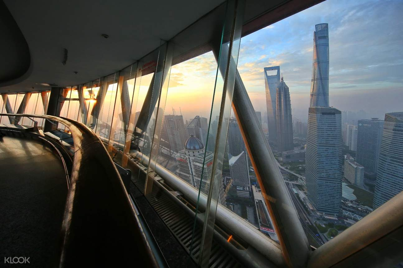 Oriental Pearl tower cityscape view