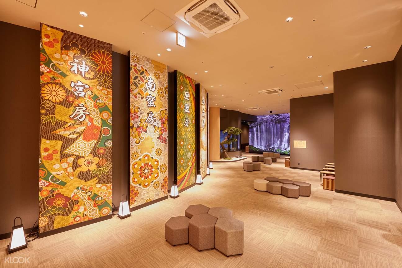 view of an indoor onsen