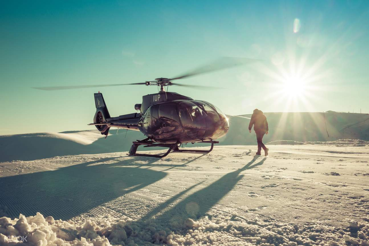 queenstown helicopter flight over the snow