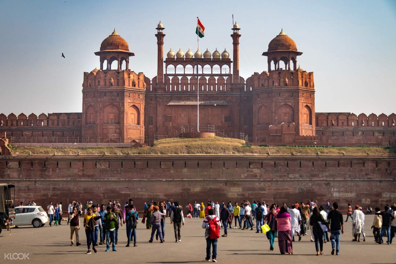 people in red fort