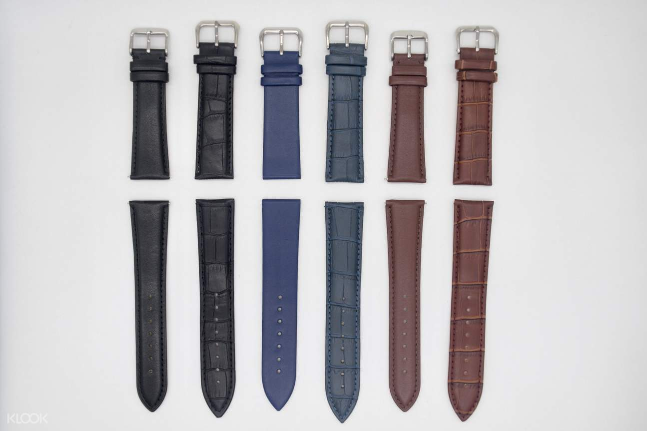 Pick your favourite leather strap from a variety of patterns and colours