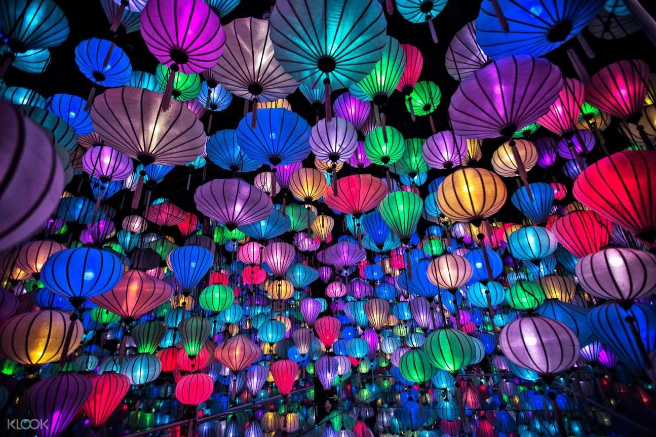Lumiere center colorful lanterns