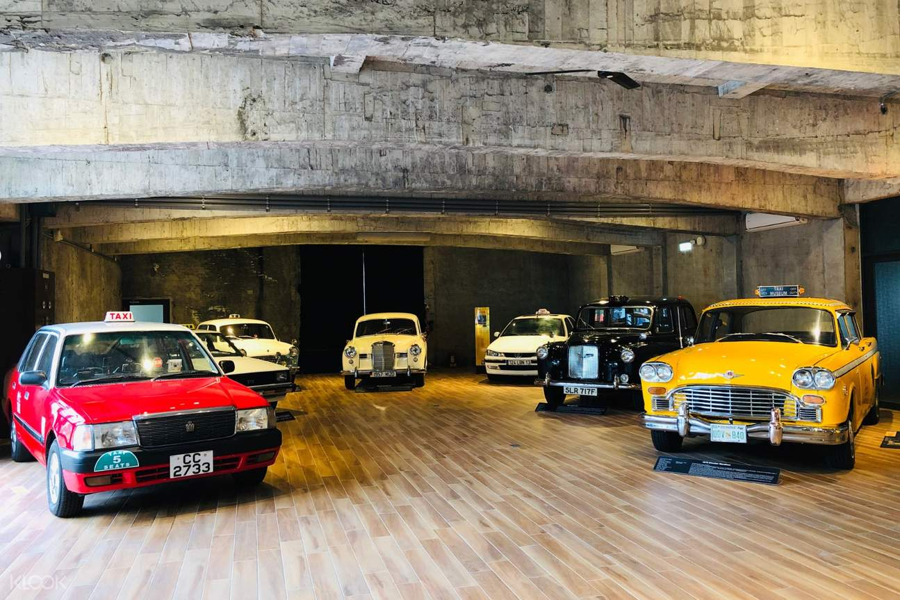 taxi models at Suao Taxi Museum