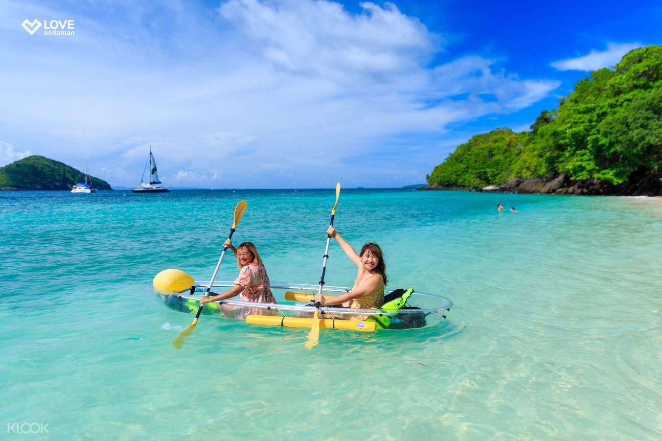kayaking at banana beach (koh hey)